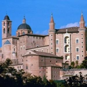 Vista panoramica del palazzo ducale di Urbino
